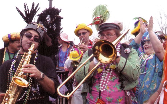 Infrogmation playing the trombone!  That's him playing the trombone...:)  I love the 'Thanks' pic!  Thanks Infrogmation! InfrogmationTromboneMardiGras